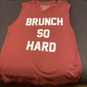 Maroon Brunch sleeveless top